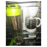 Coffee Maker + Filtered Tea Pitcher