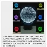 3-D DEATH STAR 7 COLOR TABLE LAMP