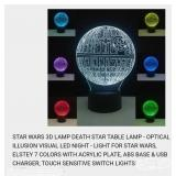 3-D DEATH STAR 7COLOR TABLE LAMP