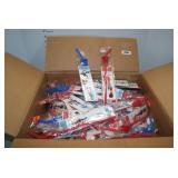Case of 100 Red & Blue Bottle Straws