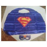 SUPERMAN MASK AND CAPE NEW CHILDS