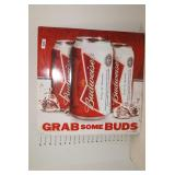 "Budweiser Grab Some Buds metal Sign 21"" x 21"""