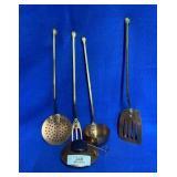 4 Copper Utensils & Copper Burner