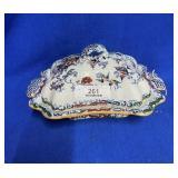 Porcelain Tureen w/Floral Decoration