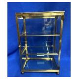 Small Tabletop Brass & Glass Display Case