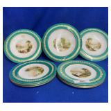 3 Compotes & 6 Matching Dinner Plates