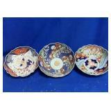 3 Oriental Porcelain Bowls