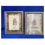 Two Framed Portraits