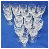 19 Waterford Stemmed Goblets - 2 Sizes