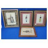 4 Figural Framed Pictures