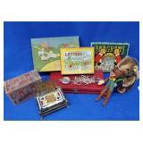 Steiff Beaver & Assorted Games/Toys