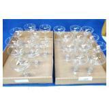 21 Hollow Stemmed Wine Glasses