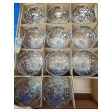11 Christmas Hollow Stem Champagne Glasses