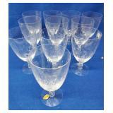 11 Tiffin Stemmed Water Goblets