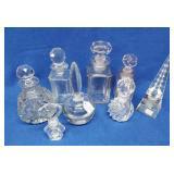 8 Vintage Glass Bottles