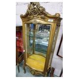 Curio Cabinet w/Bowed Glass Door