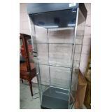 Glass Display Case w/4 Shelves