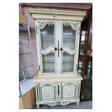 Nice 2 Piece Decorated China Cabinet