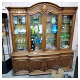 Large Karges 2pc. Breakfront w/Glass Doors