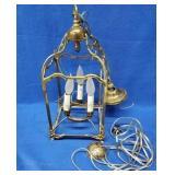 Brass Hanging Light Fixture