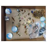 Flat of Assorted Pins & Necklaces