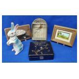 Paper Mache Rabbit & Miscellaneous