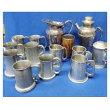 Lot of Assorted Pewter