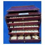 Oriental Mahjong Set in Wood Box