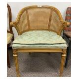 Cane Back Chair w/ Upholstered Seat