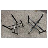 2 Black Wooden Bases for Tables