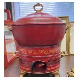 Vintage Red Food Warmer