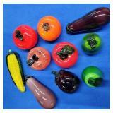 10pcs of Glass Fruit/Vegetables