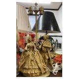 Brass Figural Lamp