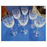 6 Cut Crystal Stemmed Goblets