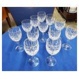 12 Cut Crystal Stemmed Goblets