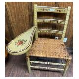 Hand Painted Antique Ladies Writing Chair