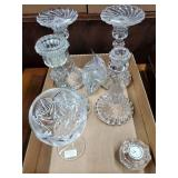 Candlesticks, Waterford Clock, Waterford Glass