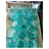 15 Colored Crackle Glasses