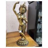 Brass Oriental Female Figure