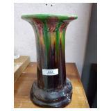 Multi Color Majolica Style Pedestal