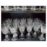 16 Waterford Stemmed Goblets