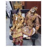 Vintage Ornate Pair of Oriental Puppets