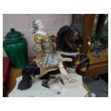 Figure of Ornate French Rider & Horse