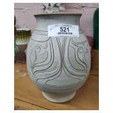 Art Pottery Decorated Vase