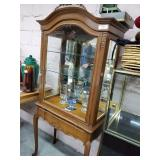 Curio Cabinet w/Carved Trim