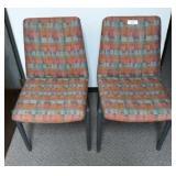 Pr Upholstered Side Chair w/Metal Legs