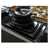 Black Lacquered Trays, Bowls & Plates