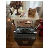 Paper Shredder, Small Table, and Miscellaneous
