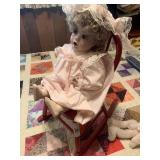 Standard Doll Co. Doll and Rocker