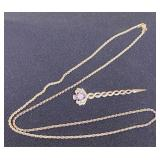 Sterling Silver Chain & Pin